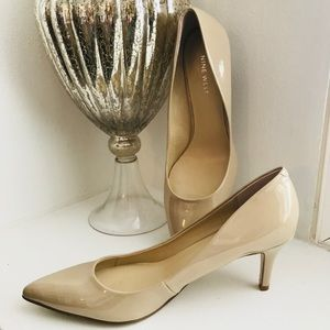 Nine West Nude Patent Leather Pumps New SZ 7.5